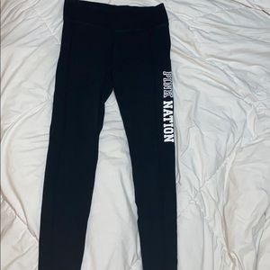PINK BLACK YOGA PANTS!